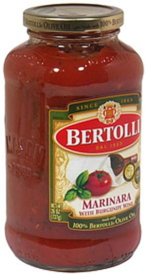Bertolli With Burgundy Wine Marinara Sauce 26 Oz Nutrition Information Innit