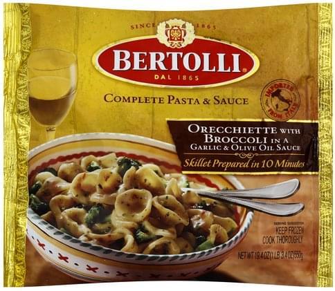 Bertolli Orecchiette with Broccoli in a Garlic and Olive Oil Sauce. Complete Pasta & Sauce - 19.4 oz