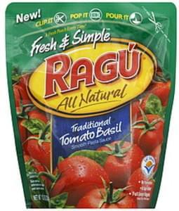 Ragu Pasta Sauce Smooth, Traditional Tomato Basil