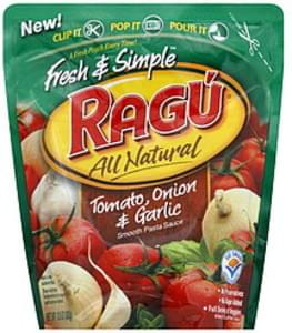Ragu Pasta Sauce Smooth Tomato, Onion & Garlic