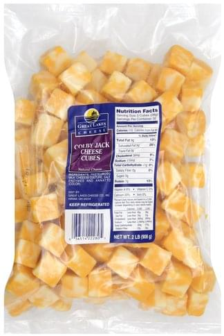 Great Lakes Cheese Colby Jack Cheese Cubes - 2 lb, Nutrition