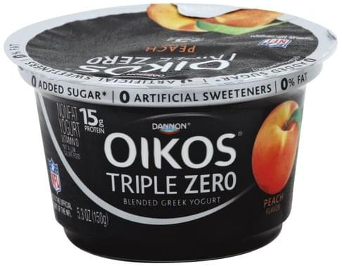 Oikos Greek, Nonfat, Blended, Peach Flavor Yogurt - 5.3 oz