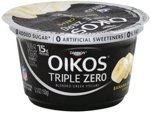 Oikos Greek, Nonfat, Blended, Banana Cream Flavor Yogurt - 5.3 oz