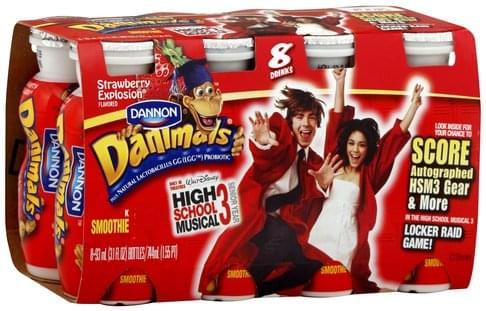 Danimals Strawberry Explosion Flavored