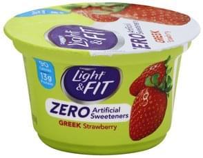 Light & Fit Yogurt Greek, Nonfat, Strawberry