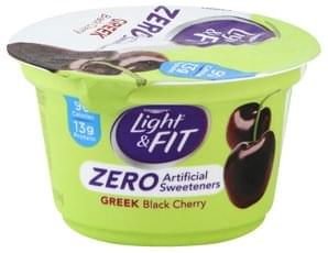 Light & Fit Yogurt Nonfat, Greek, Black Cherry