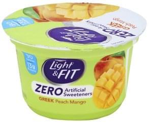Light & Fit Yogurt Greek, Peach Mango