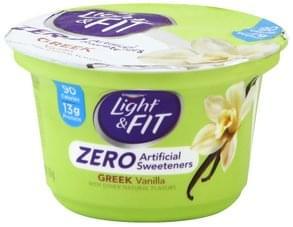 Light & Fit Yogurt Nonfat, Greek, Vanilla