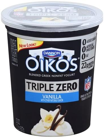 Oikos Blended Greek, Nonfat, Vanilla Yogurt - 32 oz