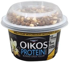 Oikos Yogurt Nonfat, Greek, Vanilla with Chocolate Oats & Peanuts
