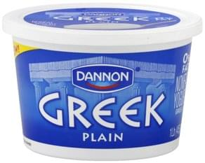 Dannon Yogurt Nonfat, Greek, Plain