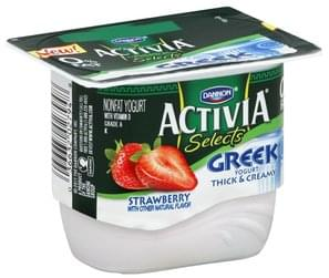Dannon Yogurt Nonfat, Greek, Strawberry