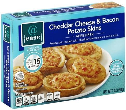 @ease Cheddar Cheese & Bacon Potato Skins Appetizer - 7 oz