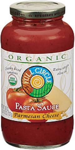 Full Circle Pasta Sauce Parmesan Cheese Organic