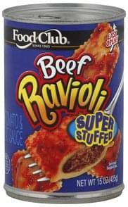 Food Club Ravioli Beef, Super Stuffed
