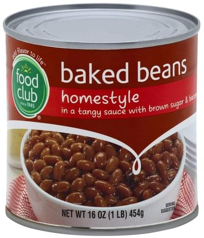 Food Club Homestyle Baked Beans 16 Oz Nutrition Information Innit