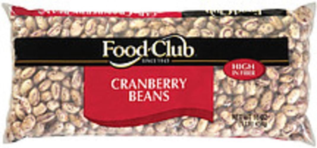 Food Club Cranberry Beans - 1 lb