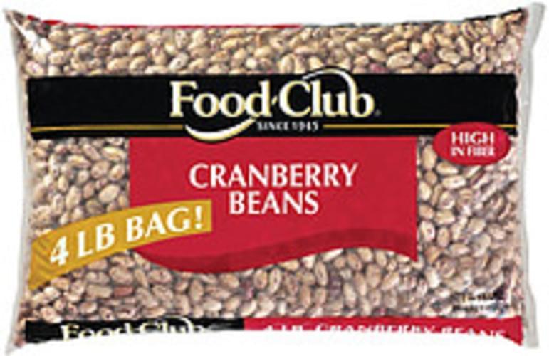 Food Club Cranberry Beans - 4 lb
