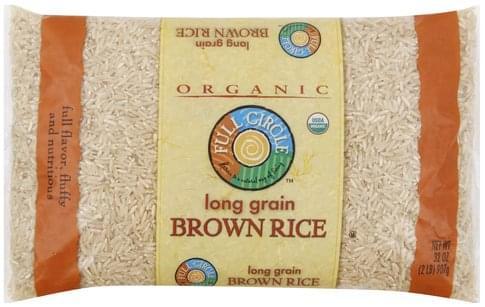 Full Circle Long Grain Brown Rice - 32 oz