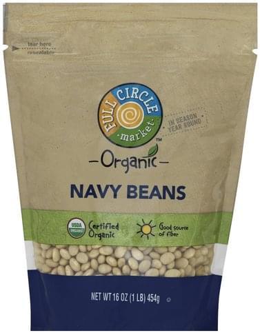 Full Circle Organic Navy Beans - 16 oz