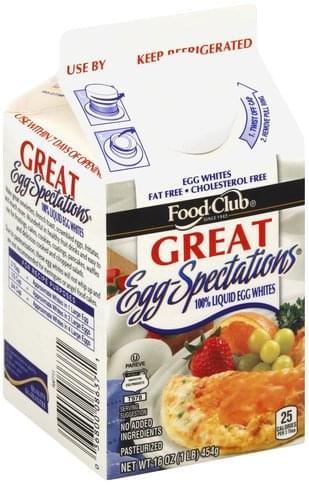 Food Club 100% Liquid Egg Whites - 16 oz