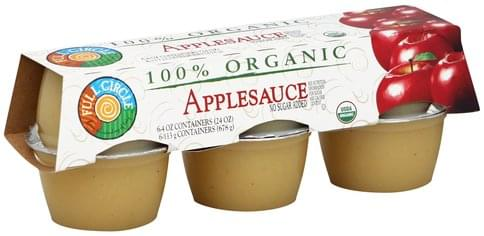 Full Circle No Sugar Added Applesauce - 6 ea