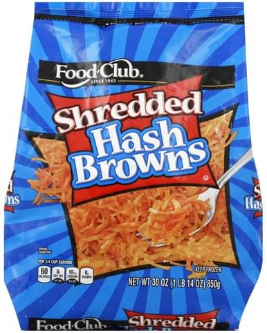 Food Club Shredded Hash Browns - 30 oz