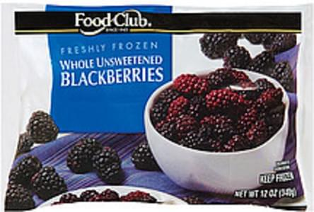 Food Club Blackberries Whole Unsweetened