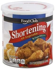 Food Club Shortening All-Vegetable