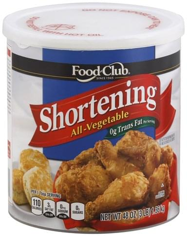 Food Club All-Vegetable Shortening - 48 oz