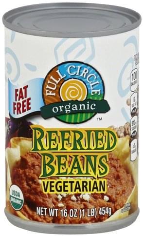 Full Circle Fat Free, Vegetarian Refried Beans - 16 oz