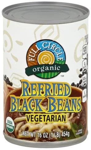 Full Circle Refried Black Beans - 16 oz