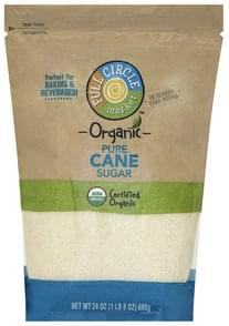 Full Circle Cane Sugar Organic, Pure