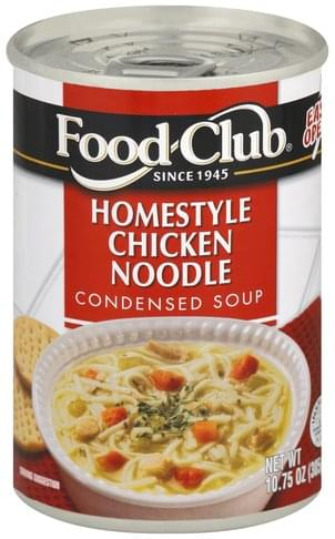 Food Club Condensed, Homestyle Chicken Noodle Soup - 10 75