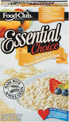 Food Club Oatmeal Essential Choice Original 0.99 Oz Packets