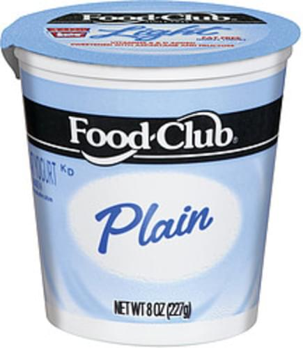 Food Club Nonfat Plain Yogurt - 8 oz