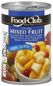 Food Club Mixed Fruit Chunky