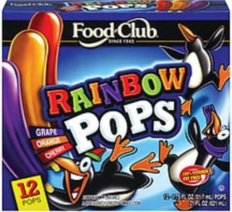 Food Club Frozen Confection Rainbow Pops