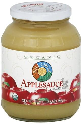 Full Circle No Sugar Added Applesauce - 24 oz