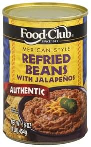 Food Club Refried Beans with Jalapenos