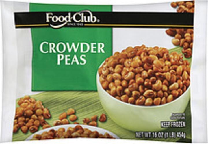 Food Club Crowder Peas - 16 oz