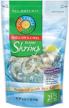 Full Circle Shrimp Raw Shell-On E-Z Peel Jumbo 21/25