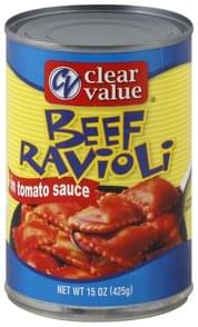 Clear Value Beef Ravioli in Tomato Sauce