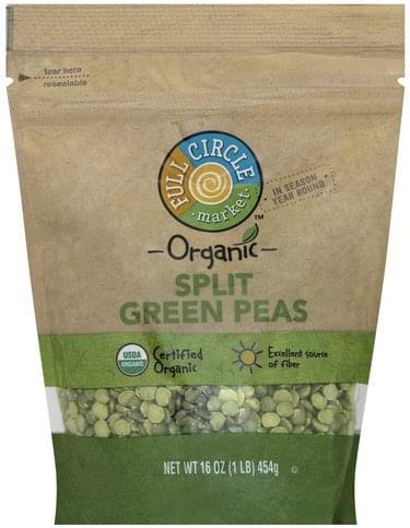 Full Circle Organic, Split Green Peas - 16 oz