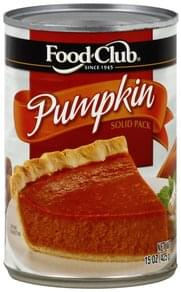 Food Club Pumpkin Solid Pack