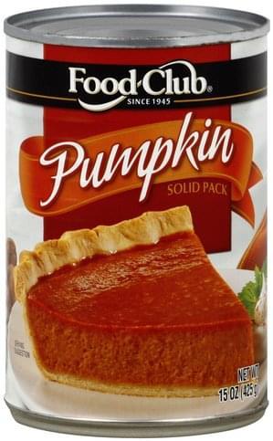 Food Club Solid Pack Pumpkin - 15 oz