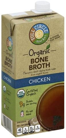 Full Circle Organic, Chicken Bone Broth - 32 oz