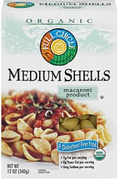 Full Circle Medium Shells Organic MacAroni Product