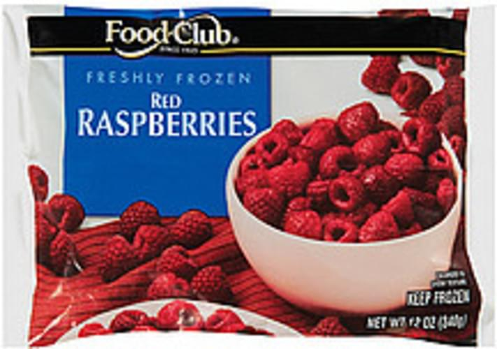 Food Club Red Raspberries - 12 oz
