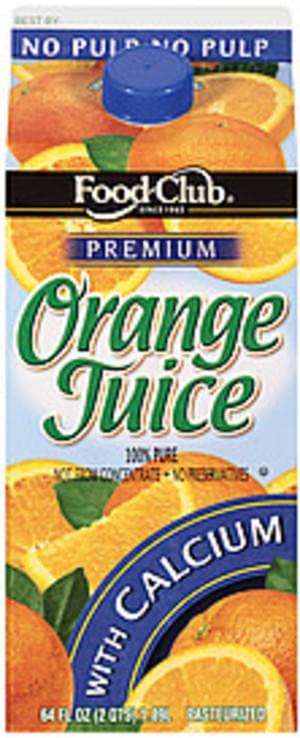 Food Club Premium w/Calcium Orange Juice - 64 oz